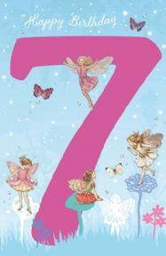 Fairies 7th Birthday Card